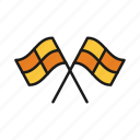 flag, football, offsite, referee, umpire icon