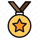 award, badge, medal, sports, trophy, win, winner icon