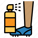 football, game, injury, pain, player, soccer, spray icon
