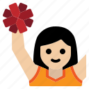 cheer, cheerleader, cheerleading, fan, football, games, sports icon