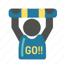 chant, fan, football, soccer, soccer icon, supporter icon