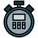 chronometer, interface, sports, stopwatch, time, timer, wait icon