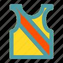 football, soccer, sport, vest icon