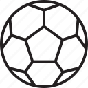 ball, foot, football, outline, soccer, sport, sports icon