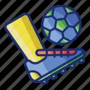 football, game, kick, off icon