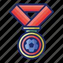 award, football, medals, winner icon