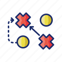 football, game, plan, strategy icon