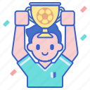 champion, winner, football