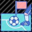 corner, football, kick icon