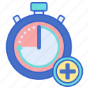 extra, timer, time icon