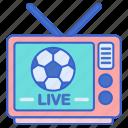 live, match, football icon