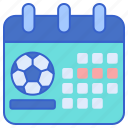 schedule, match, football icon