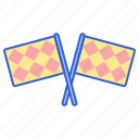 referee, football, flag icon
