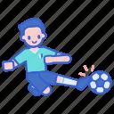 player, sliding, tackle, football icon