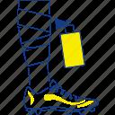 aerosol, bandage, foot, football, harm, soccer, thin icon