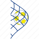 football, goal, net, soccer, success, thin, victory icon