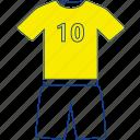 casual, football, shorts, soccer, t-shirt, thin, uniform