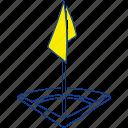 corner, field, flag, football, soccer, stadium, thin icon