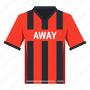competition, football, home, play, playaway, soccer, uniform icon
