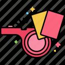 foul, referee, sport, whistle icon