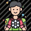 ball, football, game, goalkeeper icon