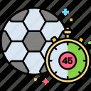 clock, half, time, timer icon