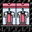 chair, furniture, locker, room icon