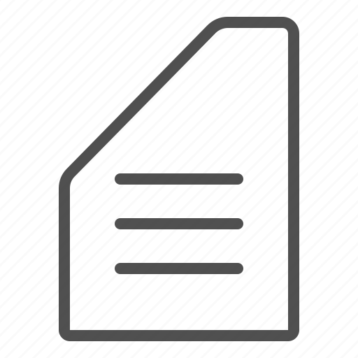 document, file, text, word, writing icon