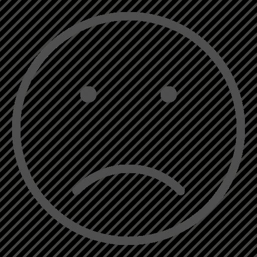 emoji, face, sad, smile icon