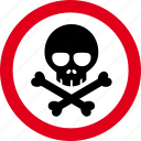 caution, danger, hazard, poison, warning icon