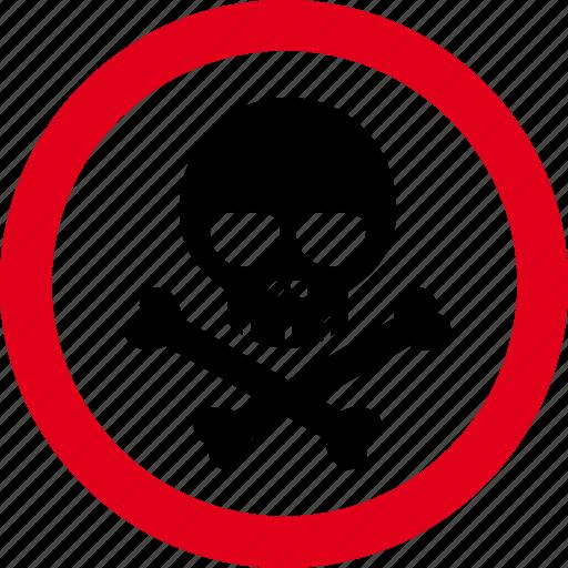 caution, danger, hazard, poison, warning icon