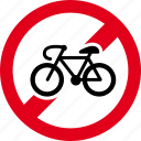 bike, forbidden, ride, bicycle, entry, no, prohibited