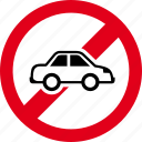 auto, automobile, car, drive, forbidden, transportation, vehicle icon
