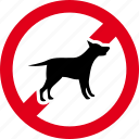 animal, animals, dog, forbidden, no, pet, stop icon