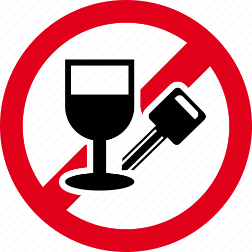 alcohol, car, drink, drive, forbidden, no, wine icon