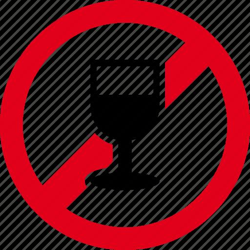 alcohol, beverage, cup, drink, forbidden, wine icon