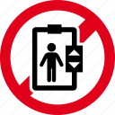 elevator, entry, forbidden, no, stop, warning icon