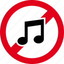 audio, forbidden, media, music, player, sound, volume icon