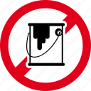 brush, forbidden, no, paint, painting icon