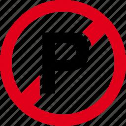 car, forbidden, parking icon