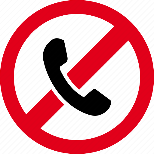 call, cell, forbidden, mobile, phone, smartphone, telephone icon