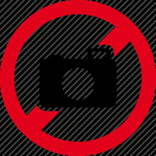 camera, forbidden, image, photo, photography, photos, picture icon
