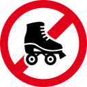 forbidden, no, roller, skate, stop icon