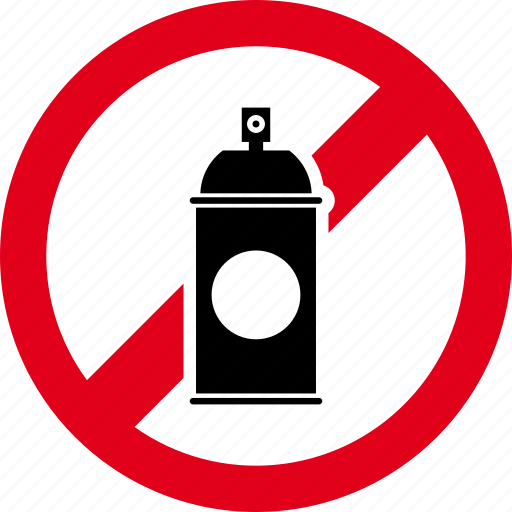 color, forbidden, no, paint, painting, spray icon