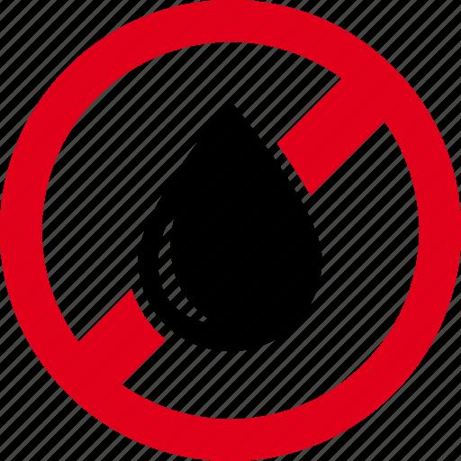 drop, forbidden, no, water, wet icon