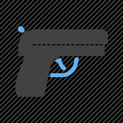 gun, pistol, trigger, weapon icon