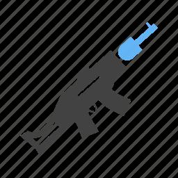 clashan, cop, gun, pistol icon