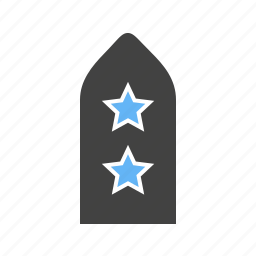 badge, stars, two, with icon