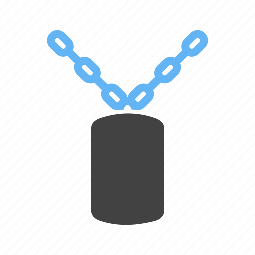 chain, for, militrary, prisoners icon