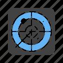 detection, location, radar, target icon